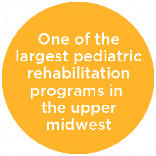 One of the Largest Pediatric Rehabilitation Programs in upper midwest