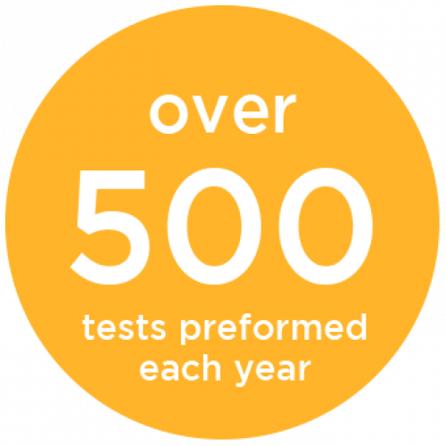 Over 500 Tests Performed Each Year