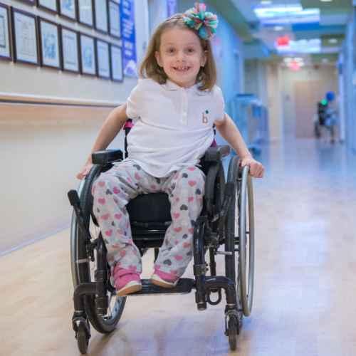 gillette spina bifida patient, Maddie, Spina Bifida Research
