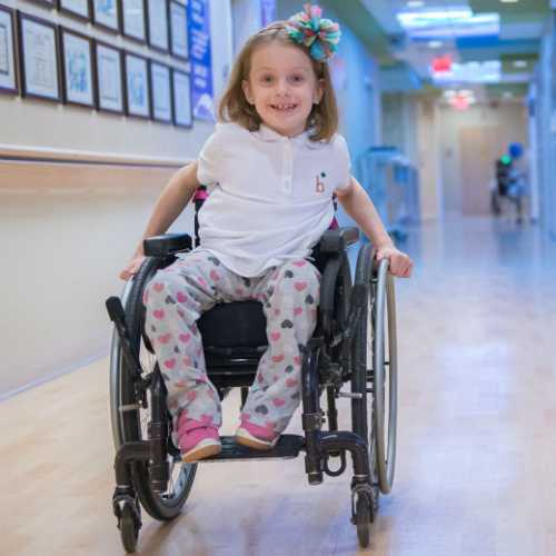 gillette spina bifida patient, Maddie, Spina Bifida Research