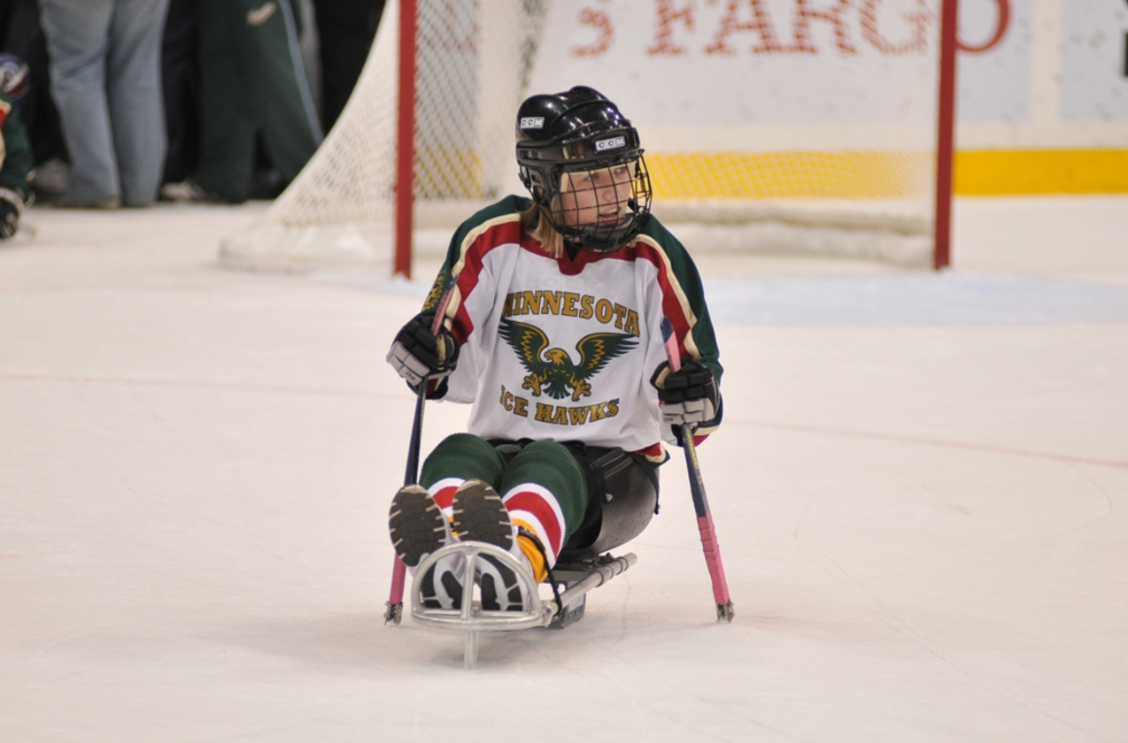 Sled hockey is a popular sport.