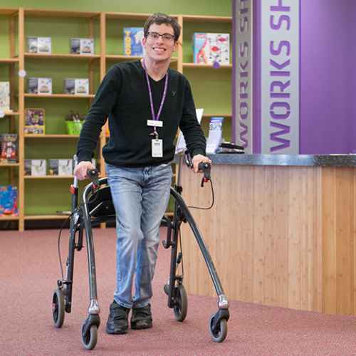 Gillette CP patient Aaron Myers, patient at adult clinic