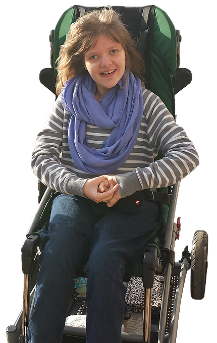 Gillette patient Jill Evert, who has Rett syndrome