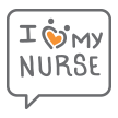 I heart my nurse emoji
