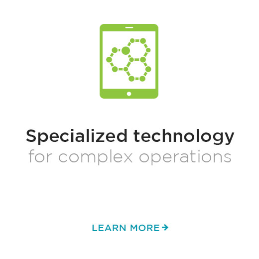 Specialized technology for complex operations