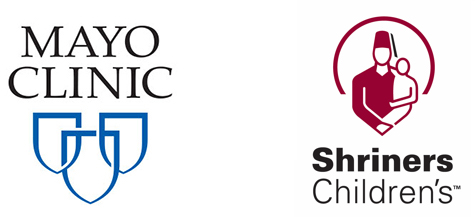 Mayo clinic and shriners logos