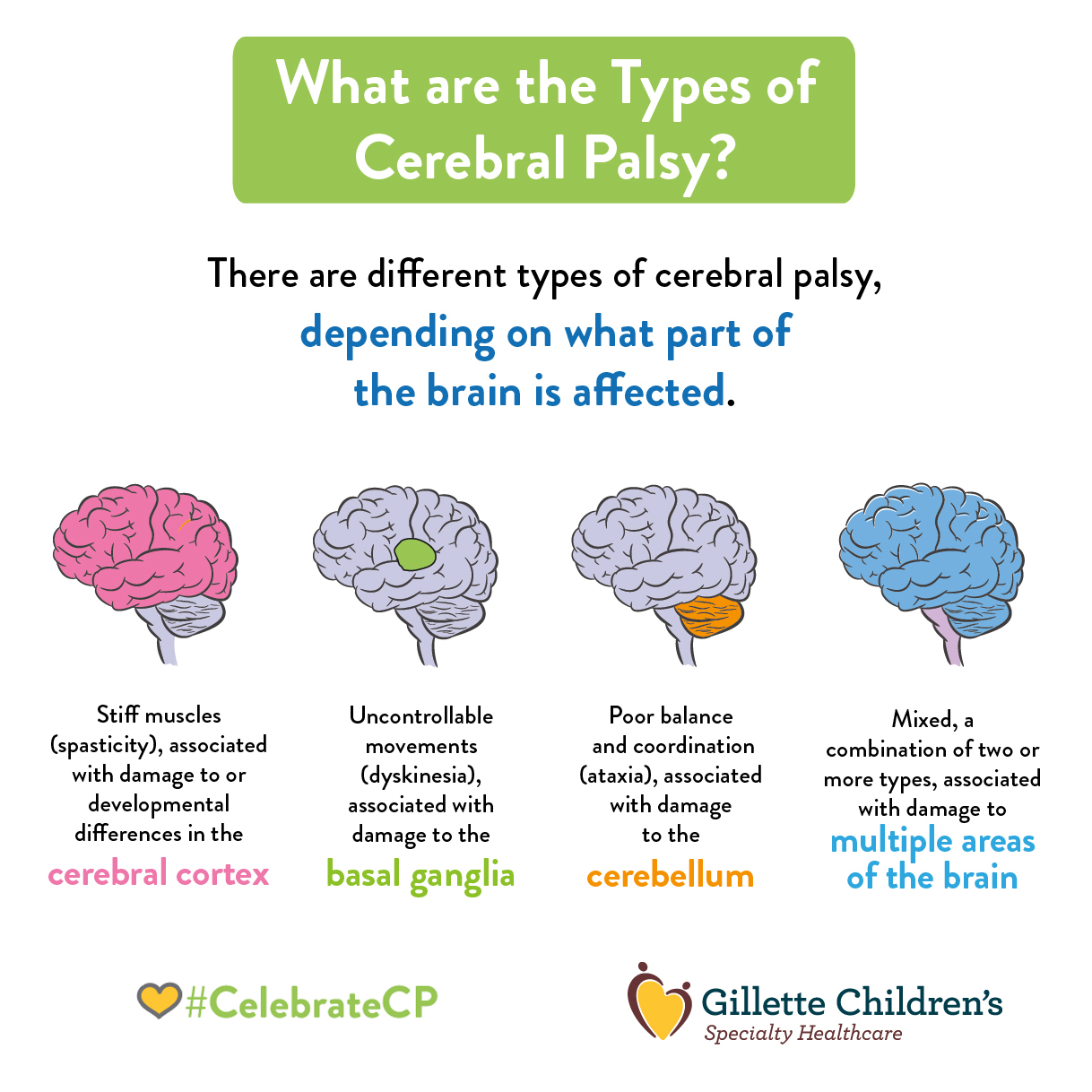 conclusions cerebral palsy One to two percent of american children are diagnosed with an autism spectrum disorder an estimated seven percent of children with cerebral palsy have co-occurring autism.