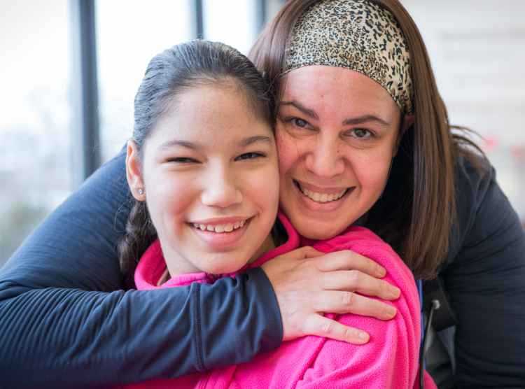 Yael, Gillette patient from Venezuela and mom at Gillette children's specialty healthcare.