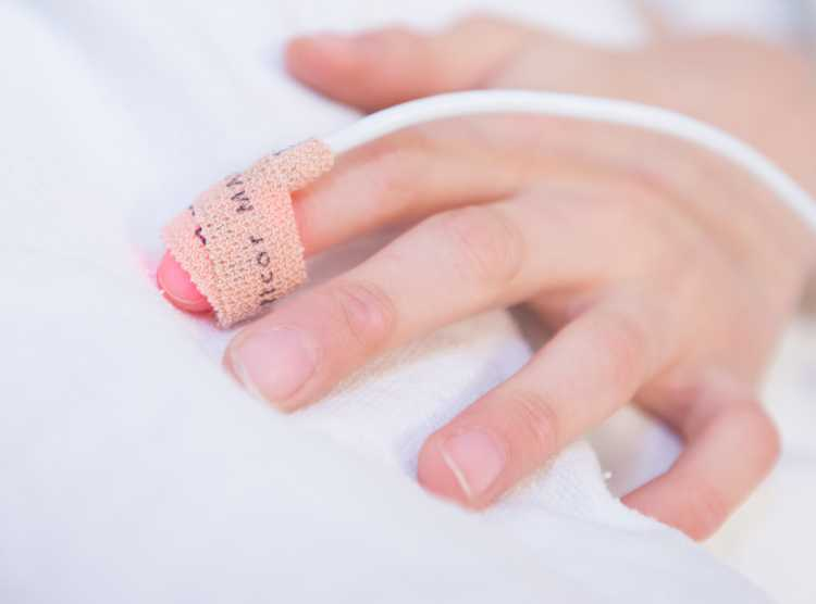 Hand during surgery at Gillette children's specialty healthcare