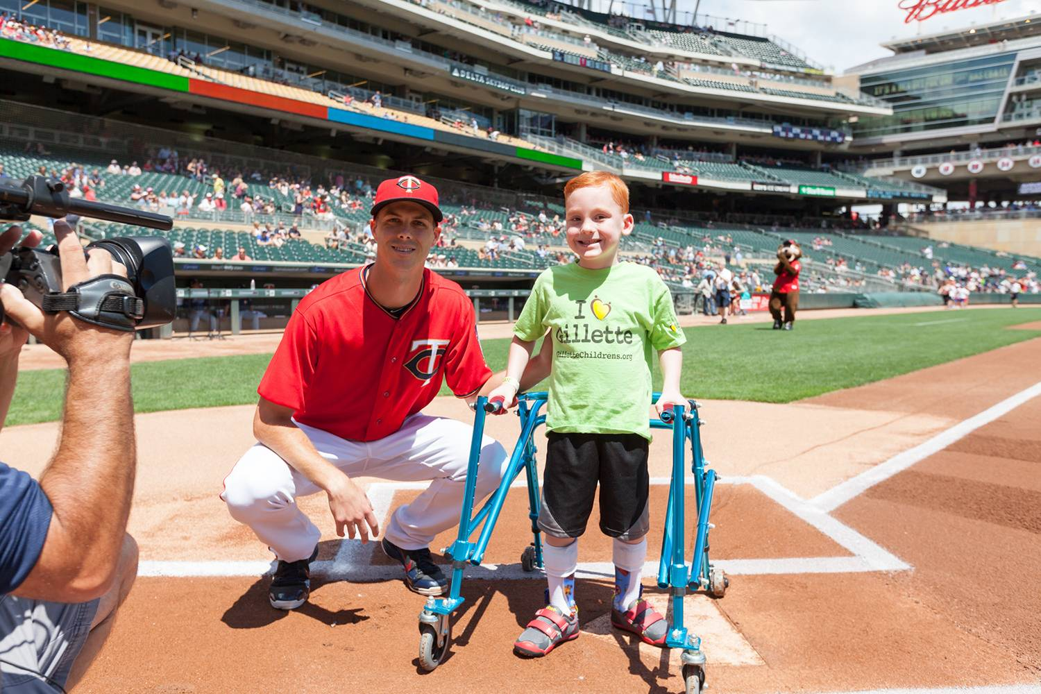 Cameron and Twins pitcher Taylor Rogers.