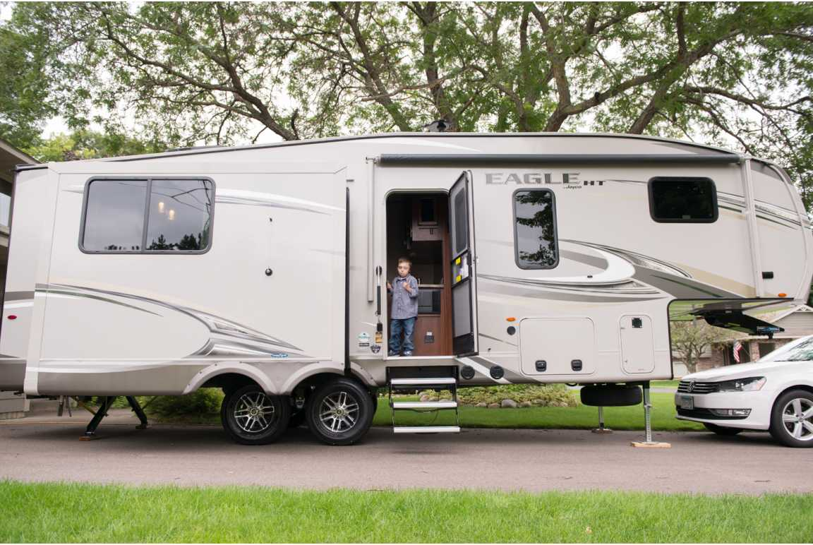 View of the Bentley family camper