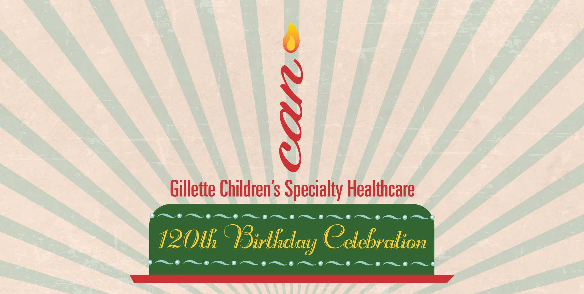 Gillette birthday banner 120th