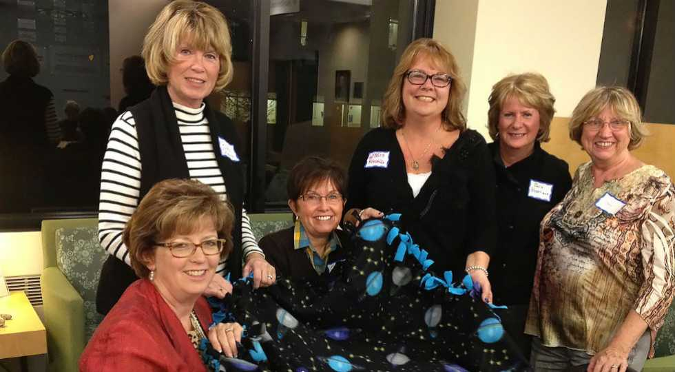 Home crafter volunteers at Gillette children's specialty Healthcare