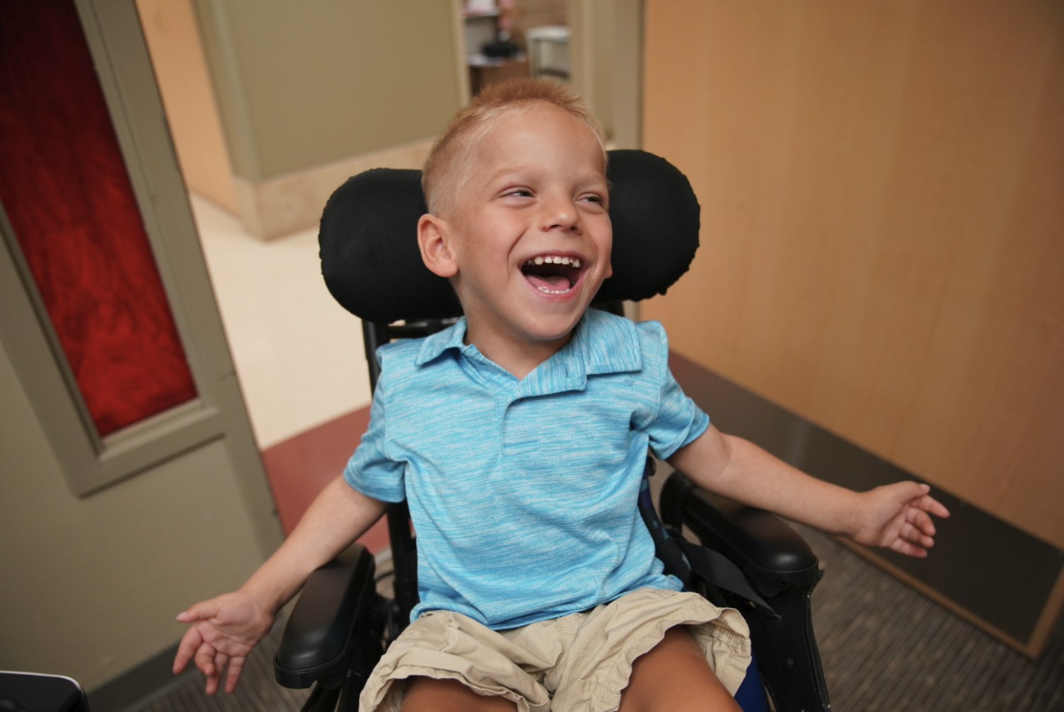 HarrisonClausnitzer, 5, from Lakeville, MNis the ambassador for this year's Walk and Roll to raise money to support Gillette Children's Specialty Healthcare.