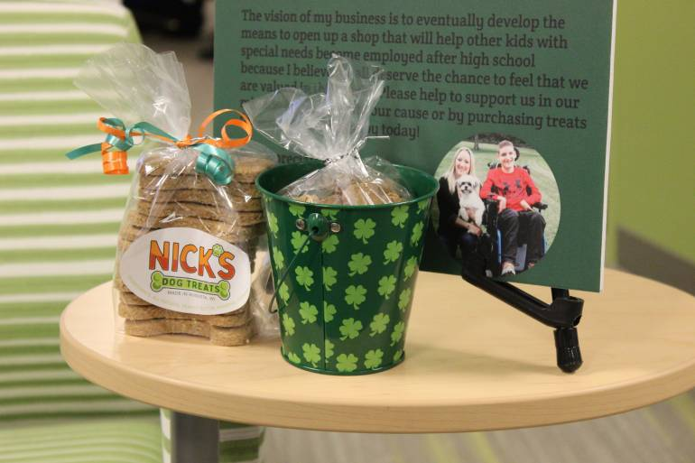 Nick's dog treats products