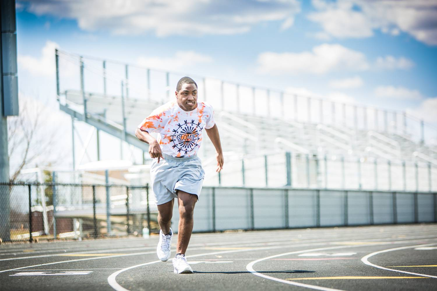 Jacob, who has cerebral palsy, has always wanted to run track.