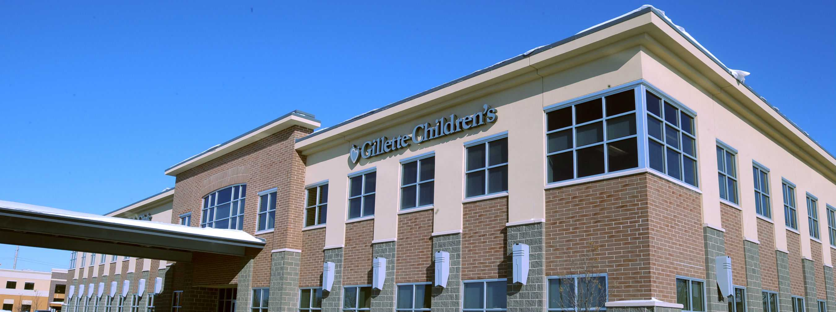 Exterior of Gillette children's Maple Grove clinic, MN