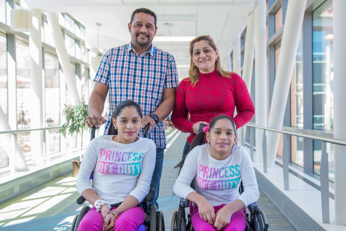 The Bracho Diaz family left their native Venezuela eager for another round of expert care for their 10-year-old twin daughters Maria de los Angels and Maria Antonieta.