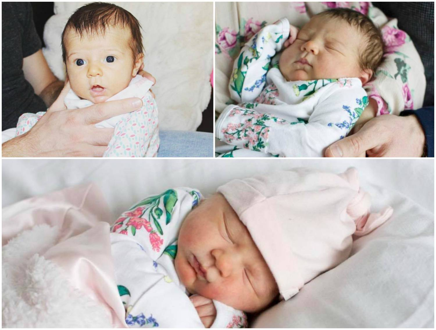Marlowe Birth Photo Collage