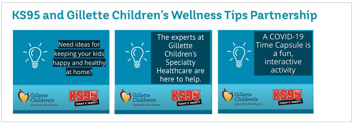 KS95 and Gillette Children's Wellness Tips