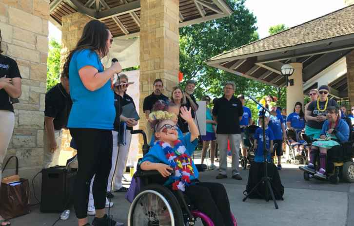 Heather and Kaidyn Micek at Walk and Roll 2017