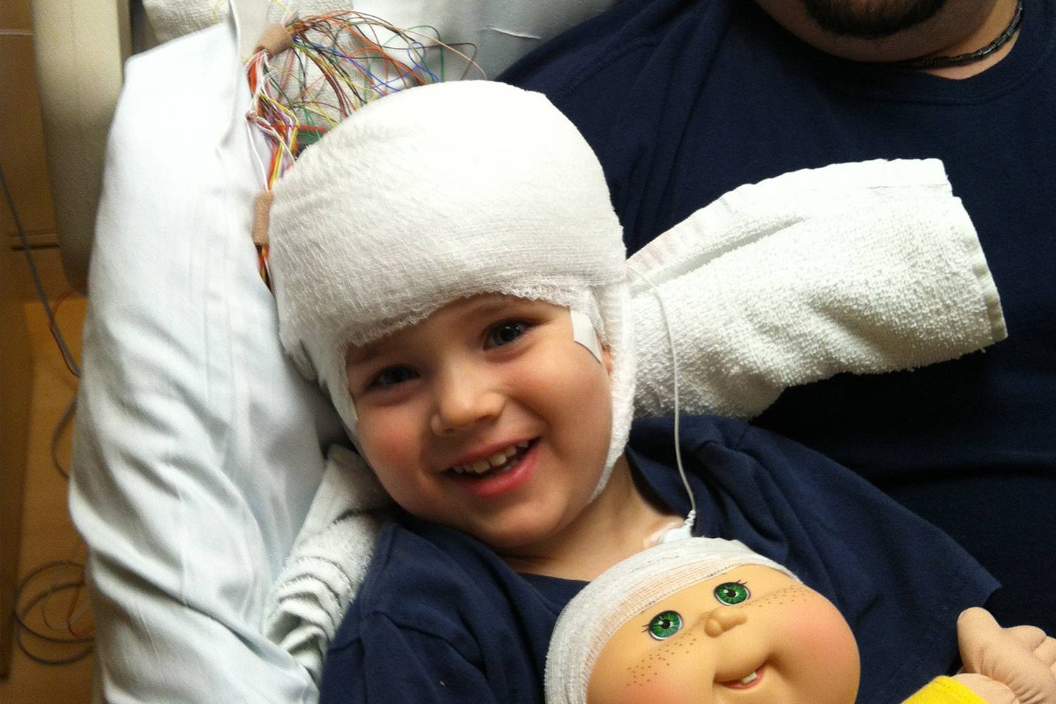 Gillette patient Wyatt during EEG