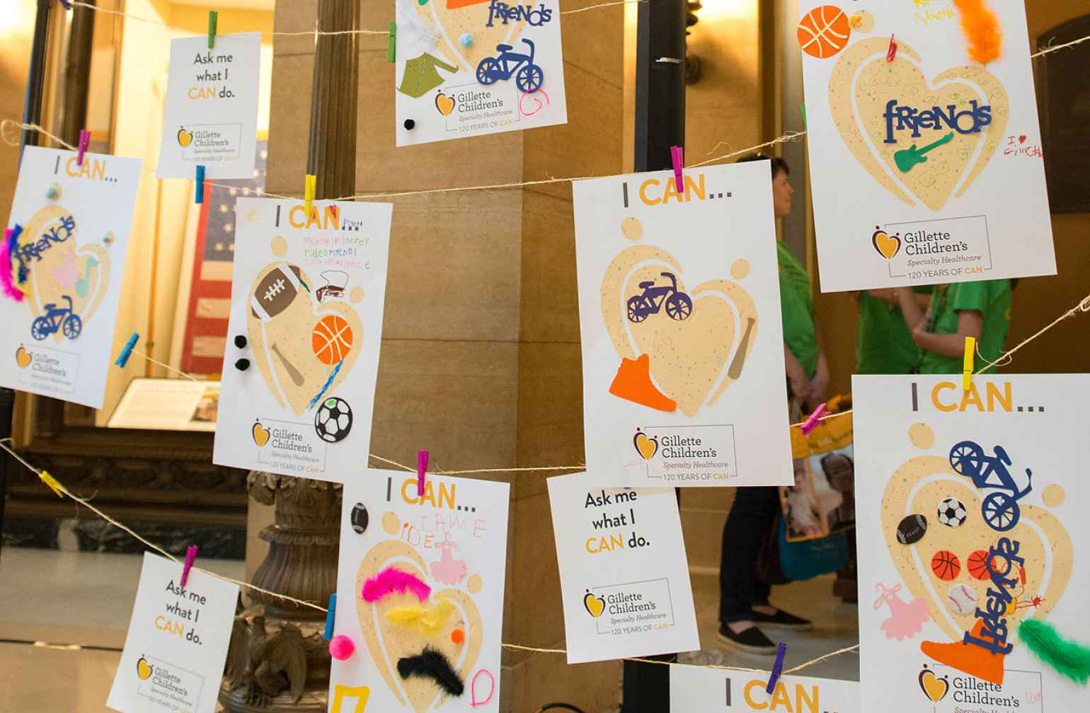 Artwork from gillette patients at Capitol Day