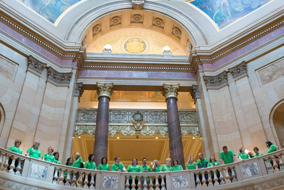 Interior group shot of capitol building, St. Paul, MN