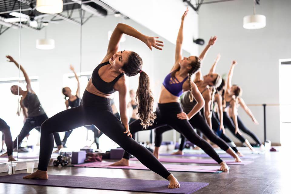 Kelsey, yoga with friends