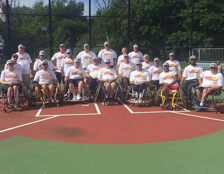 The Minnesota Flamethrowers are a wheelchair softball team.