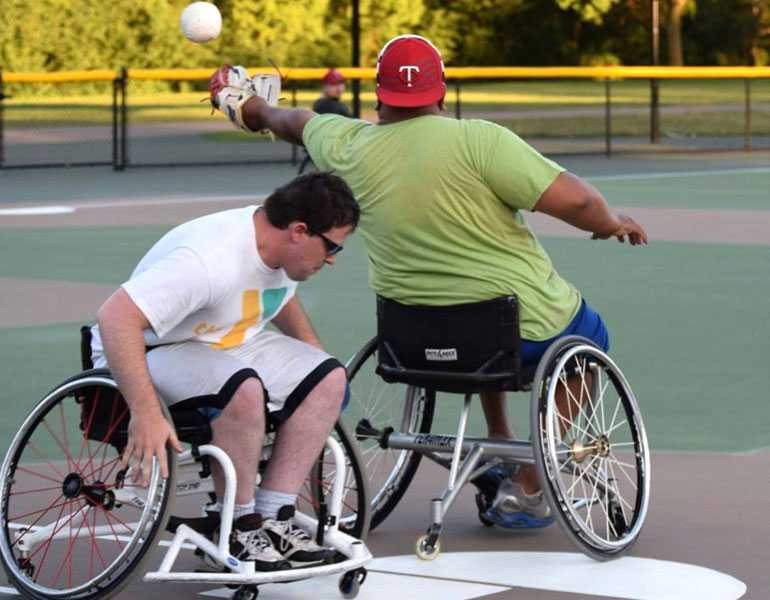 Athletes who play wheelchair softball must remain in top form year round.