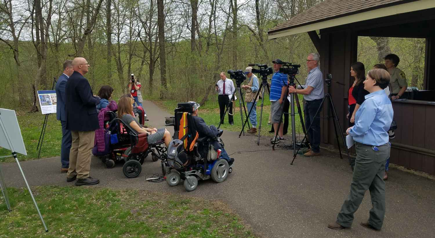 Media, legislators and Gillette patients advocate for accessible state parks