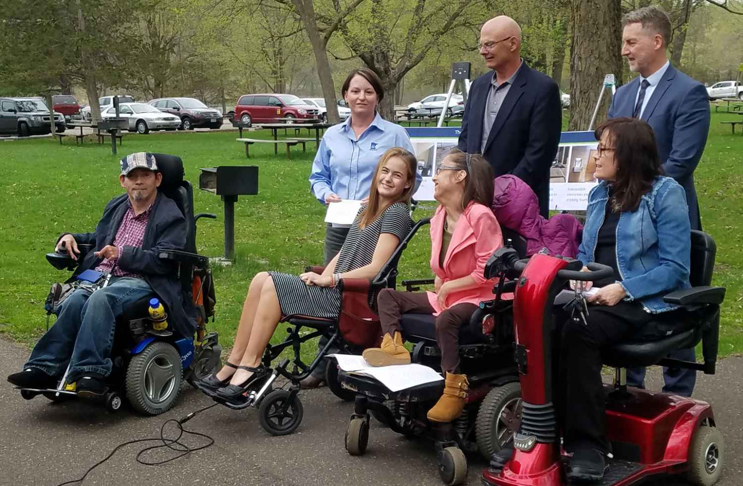 Katie Allee joined the Minnesota DNR and others to advocate for fully accessible state parks.