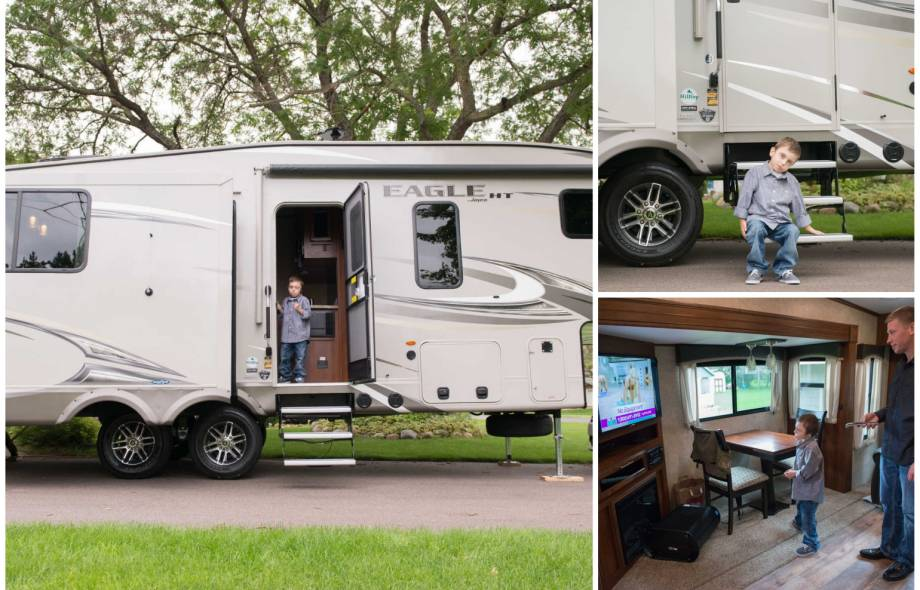 Gillette patient Bentley and his family camper trip