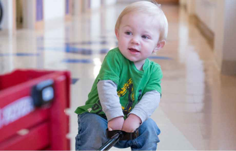 After craniosynostosis correction surgery at Gillette, today Cameron is doing well.