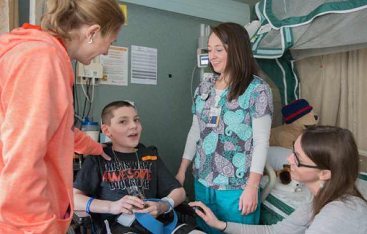 Gillette patient Dalton with nurses