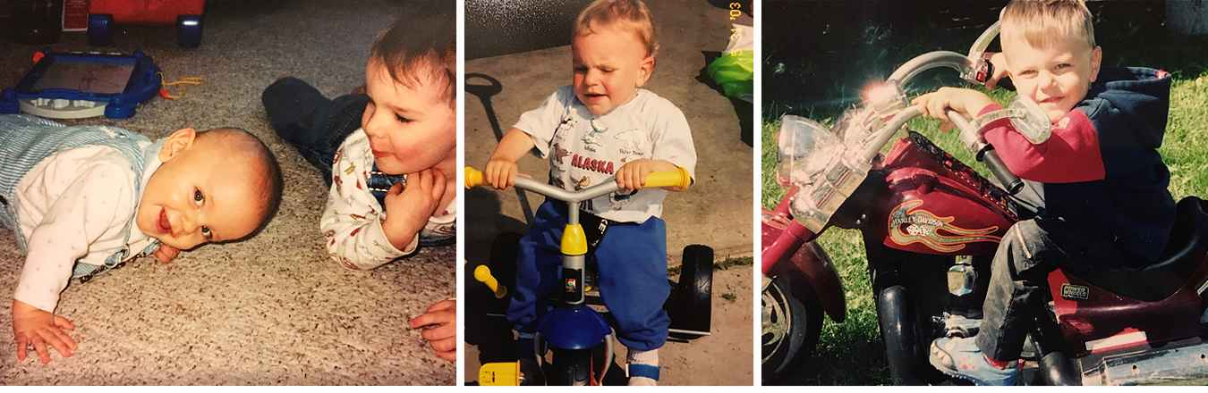 Gillette patient Danny as baby and toddler