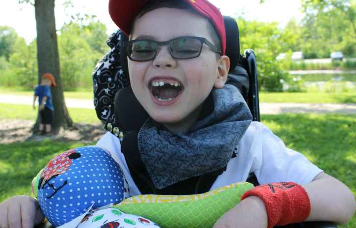 Gillette patient Everett spends some time outdoors
