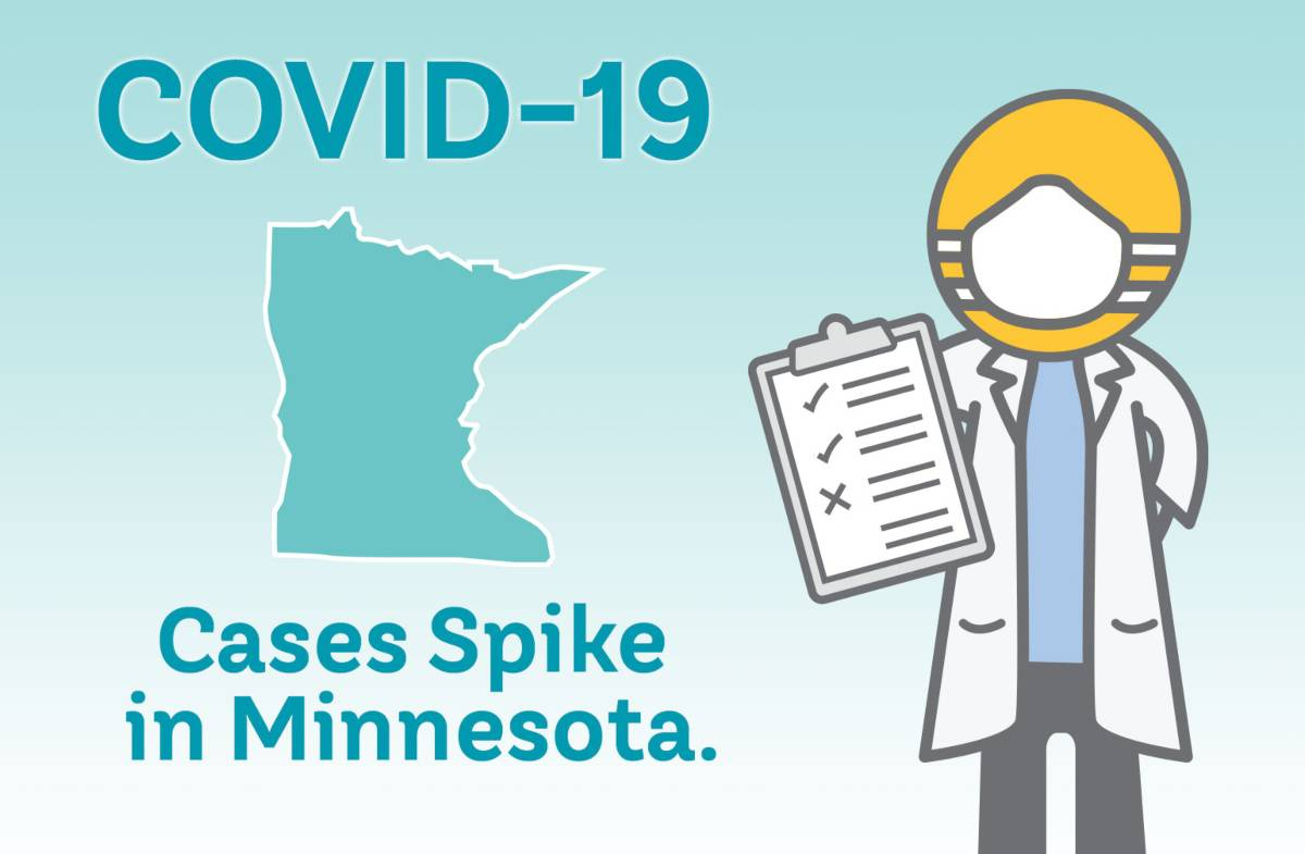 COVID-19 Cases Spike in Minnesota