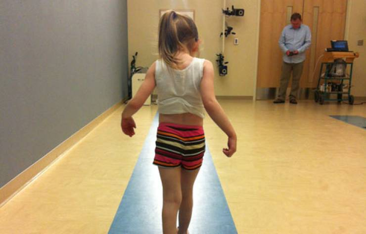 Sophia in the James R. Gage Center for Gait and Motion Analysis