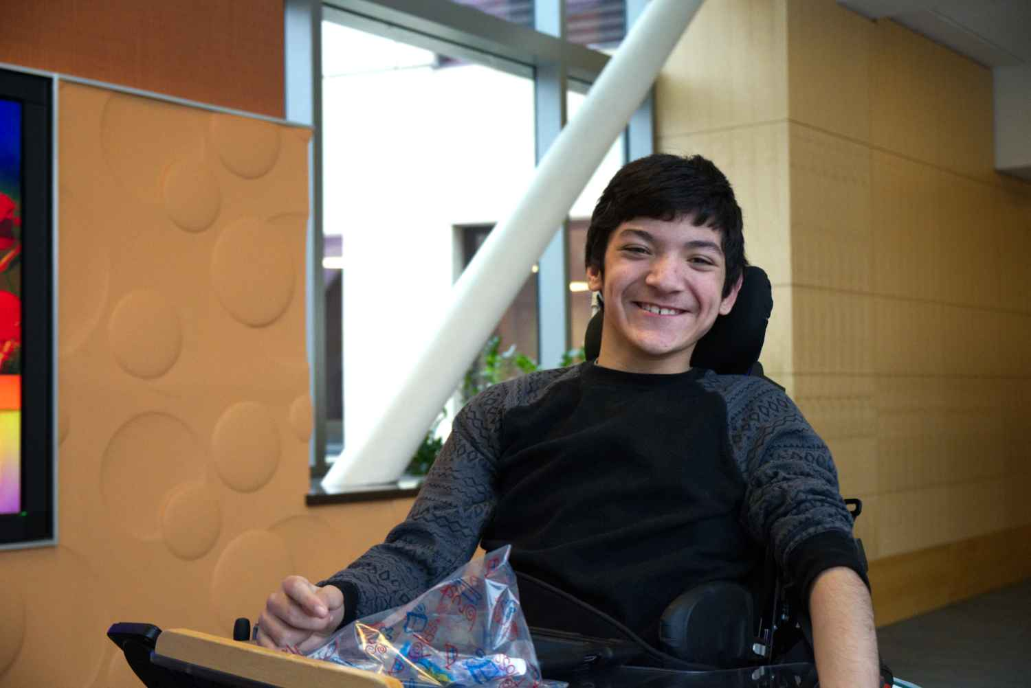 Louie Romero is all smiles at Gillette Children's