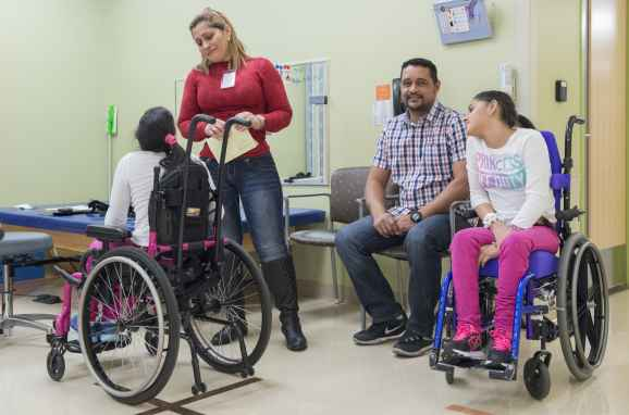 The Marias attend many physical therapy sessions at Gillette Children's Specialty Healthcare.