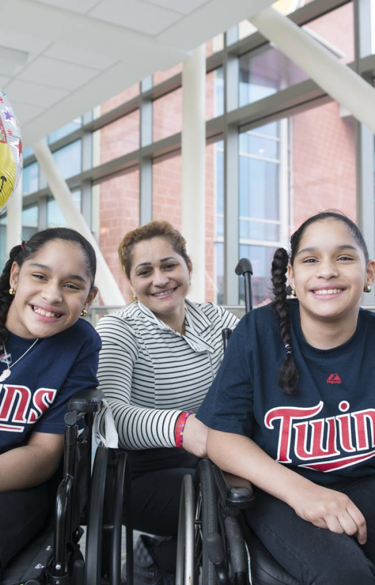 The Marias celebrate their 11th birthday at Gillette.They're big fans of the Minnesota Twins baseball team.