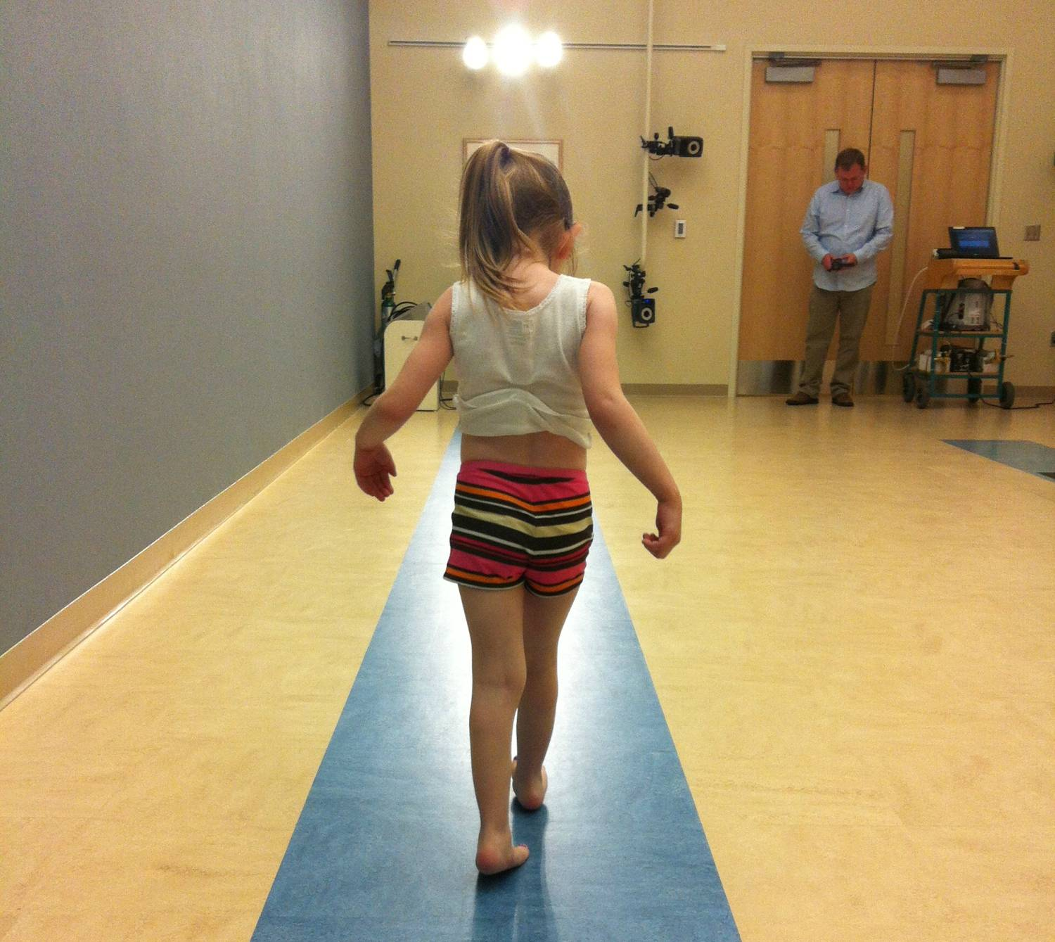 Sophia in the Gait Lab