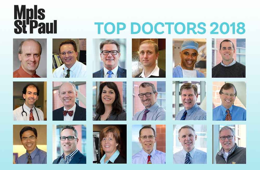 These Gillette physicians were named to Mpls. St. Paul Magazine's Top Docs list.
