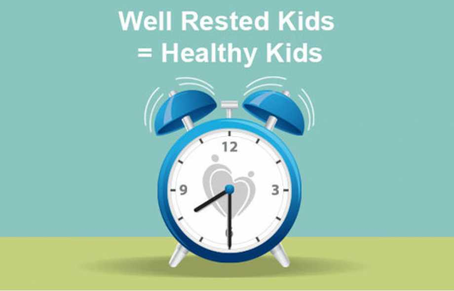 Well rested kids = healthy kids