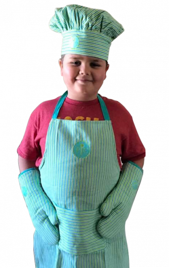 Gillette patient, Caleb in chef