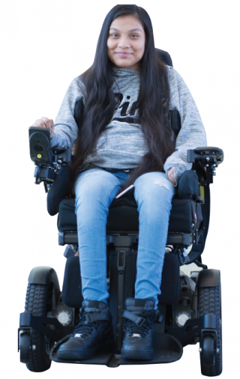 Guadalupe, a Gillette spinal cord injury patient