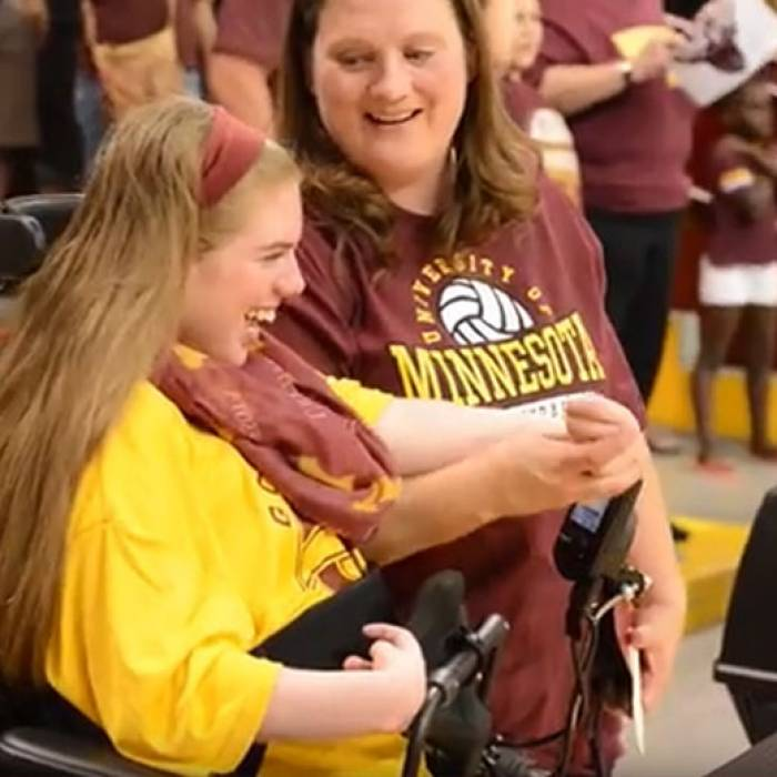 Gillette patient and gopher fan, Cassidy