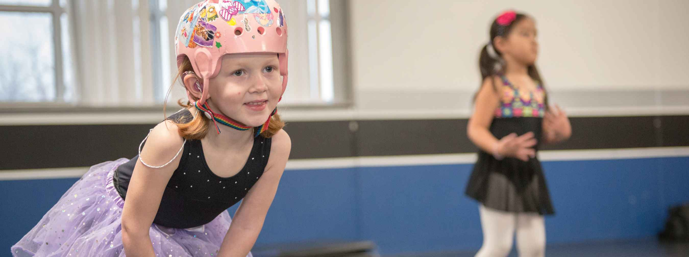 Gillette patient Ashlyn during dance class.